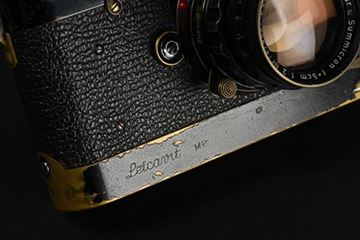 Picture of MP-17 (1957) with Summicron 2/50 SN 1 474 861, first rigid version with brass mount; and Leicavit rapidwinders. These cameras were amongst the first 10 black paint MP cameras made